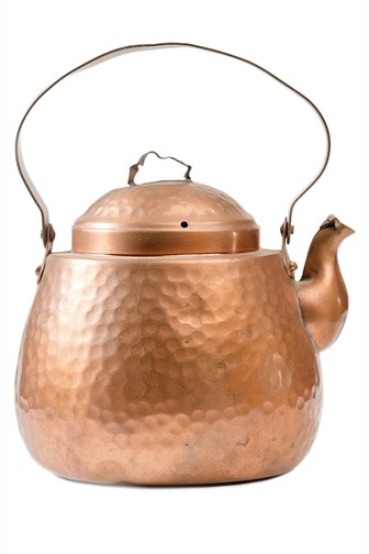 copper kettle isolated on a white background