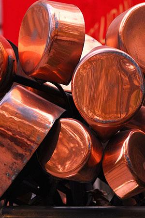 copper cooking pots